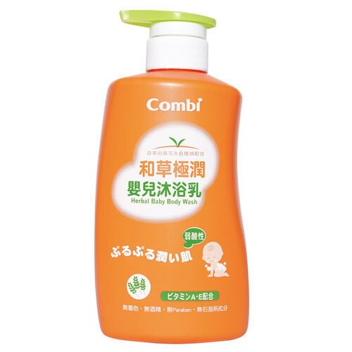 康貝 combi 和草極潤嬰兒沐浴乳