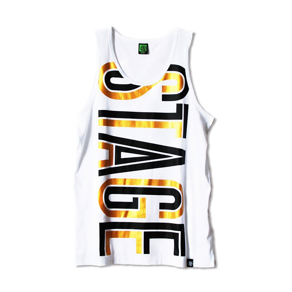 STAGE HOLLOW FONT TANK TOP 黑色/白色 兩色 2