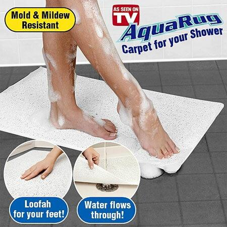 超強抗汙排水止滑墊 地墊 止滑墊 防水地墊 排水墊 淋浴墊 浴室 廁所 防滑 止滑 AquaRug shower rugs【B062985】