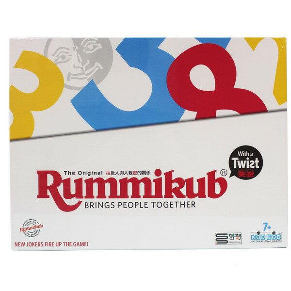 Rummikub Twist Pillar 拉密變臉版(扁型盒) NO.8600/一盒入(促900) 拉密數字磚塊牌 拉米牌遊戲 哿哿桌遊 拉密牌 以色列麻將-佳0542007