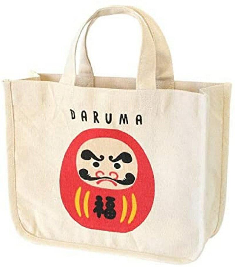 和風達摩帆布手提袋 達摩 柴犬 帆布袋 手提袋 兩款可選 日本進口