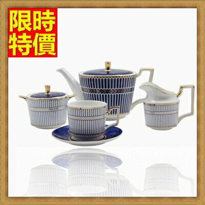 下午茶茶具 含茶壺+咖啡杯組合-4人高檔時尚歐式陶瓷茶具69g40【獨家進口】【米蘭精品】