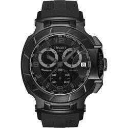 【TISSOT】TISSOT天梭T0484173705700賽車系列炫黑計時腕錶/黑面45.3mm(T0484173705700)