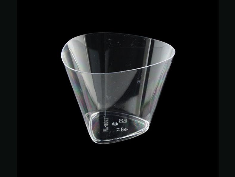 慕斯杯、奶酪杯、甜品杯、布丁杯、三角杯 B8063-0、MY8063(含透明蓋)25pcs