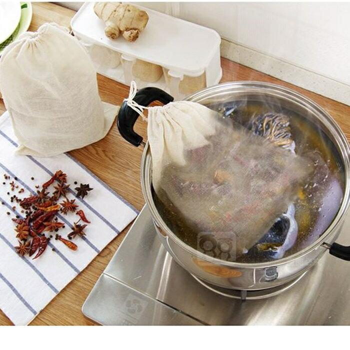 HareD [Hare.D] 抽繩滷包袋23*21公分 中藥濾渣袋 廚房用品 煲湯袋 鹵料香包