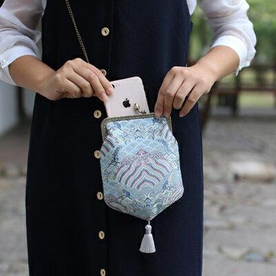 晚宴包錢包-中國風復古典雅流蘇女包包2色73sk39【獨家進口】【米蘭精品】