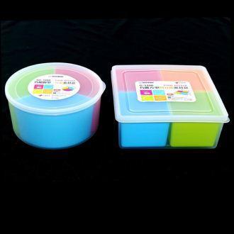 【珍昕】KEYWAY 巧麗分格保鮮盒系列~2種尺寸(圓型3分格1000ml.方型4分格1200ml)