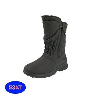 ESKT 女雪鞋SN192/城市綠洲(雪靴 防潑水 防雪 刷毛 麂皮 冰爪)