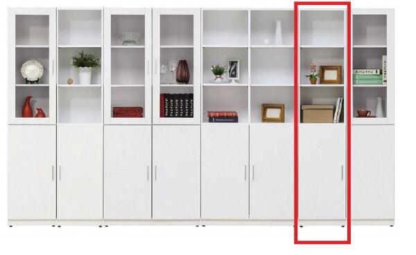 【石川家居】YE-A500-05艾美白色1.3尺單門書櫃(左開)(不含其他商品)台北到高雄搭配車趟免運