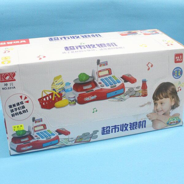坤興超市音效收銀機 NO.031A 大型電動收銀機玩具(附電池) / 一盒入 { 促650 } ~大生(T2654) 3