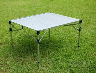【露營趣】中和安坑 送桌巾 台灣製造 TAB-980H 鋁合金蛋捲桌 摺疊桌 休閒桌 露營桌 野餐桌 非速可搭