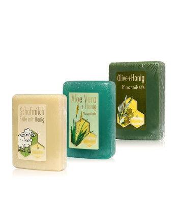 【伊蓮娜小舖】蜂?可 Bienen-Diatic 蘆薈蜂蜜潔膚皂 (采薈蜂舞+橄欖蜜碼+羊羊風采)