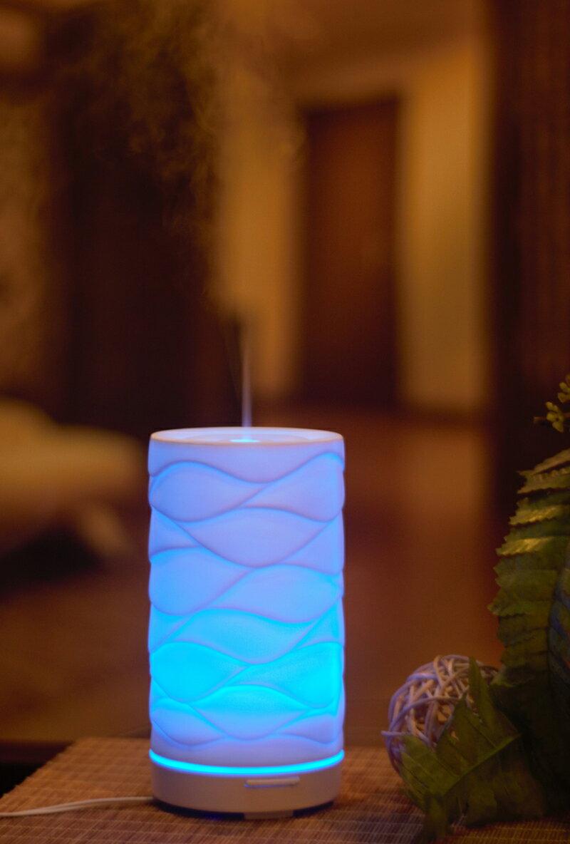 karoli卡蘿萊 透光瓷E1 香氛水氧機送10ml玫瑰精油 陶瓷款 小夜燈