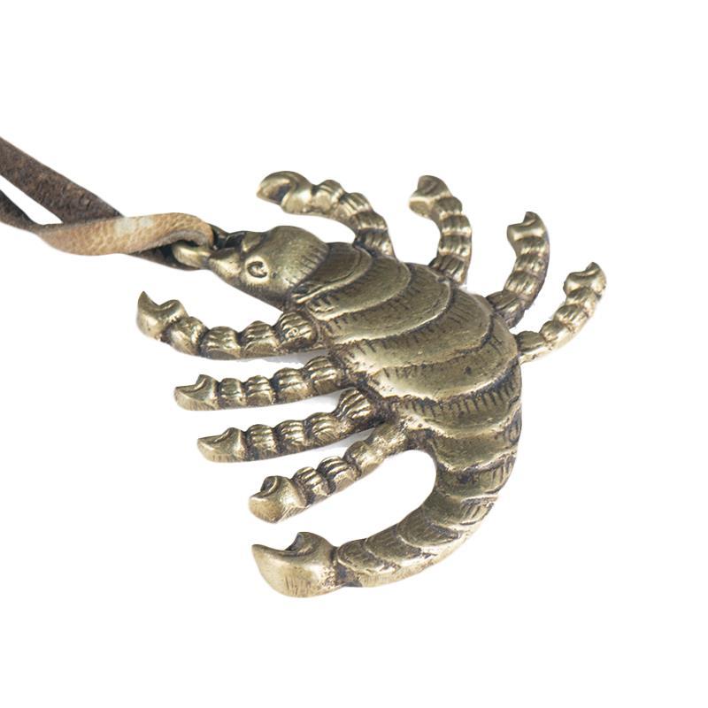 歐斯特九頭蝎掛件 藏傳佛教密宗供具尼泊爾純銅做舊蝎子吊墜擺件