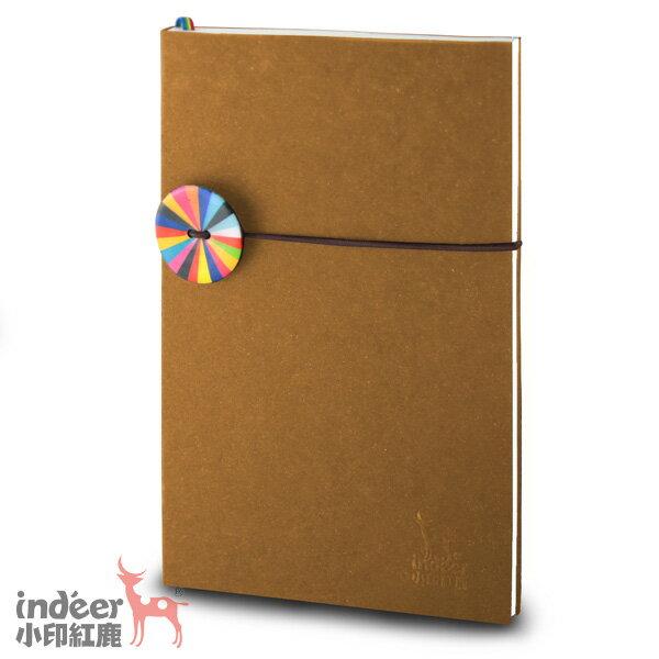 【indeer小印紅鹿】超輕手感 法式質感素色封面 手工製作 │ 巴黎小日光筆記本-拿鐵棕