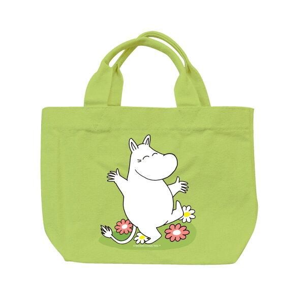 【嚕嚕米Moomin】托特包-花漾(果綠卡其)