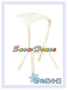 ╭☆雪之屋居家生活館☆╯R894-05CT218吧檯椅(白色)幾何椅造型椅休閒椅櫃檯椅會客椅簍空椅