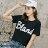 F-DNA★BLAND英文印花圓領短袖上衣T恤(2色-M-2XL)【ET12695】 1