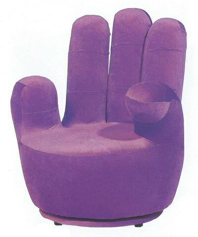 五指日式旋轉休閒椅 紫色