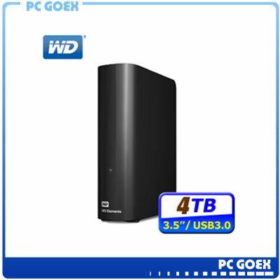 WD Elements 4TB USB3.0 3.5吋 外接硬碟 ☆pcgoex軒揚☆