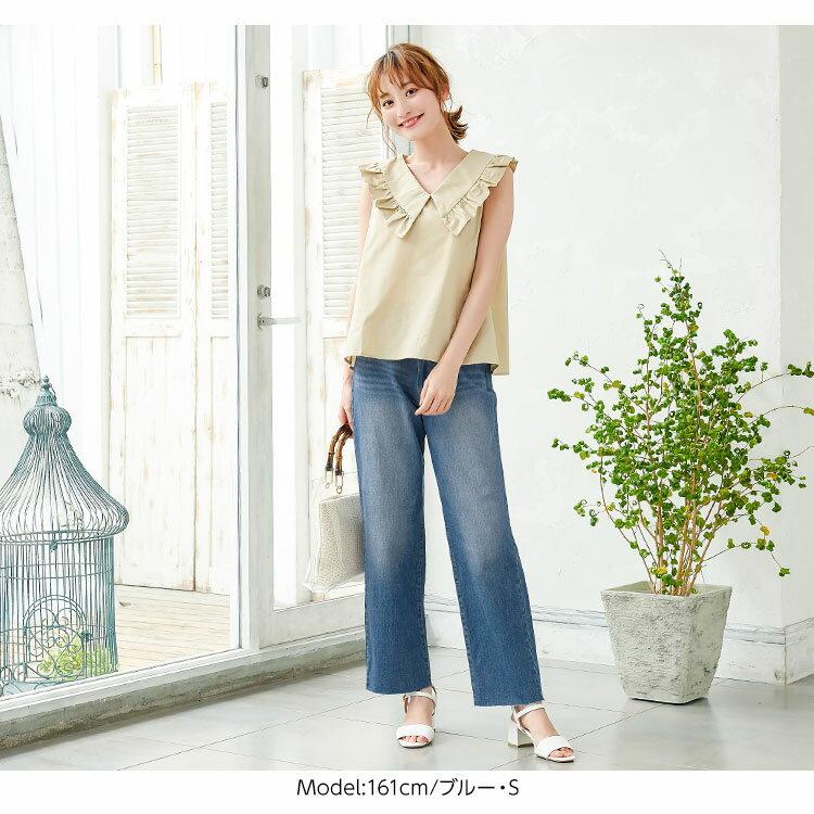 日本Kobe lettuce / 時尚寬版牛仔長褲 / 日本必買 日本樂天代購 / mobacaba-m2421 (2305)。件件免運 5