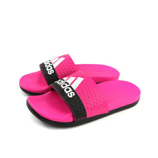 adidasADILETTECOMFORTK拖鞋桃紅色童鞋B44875no593