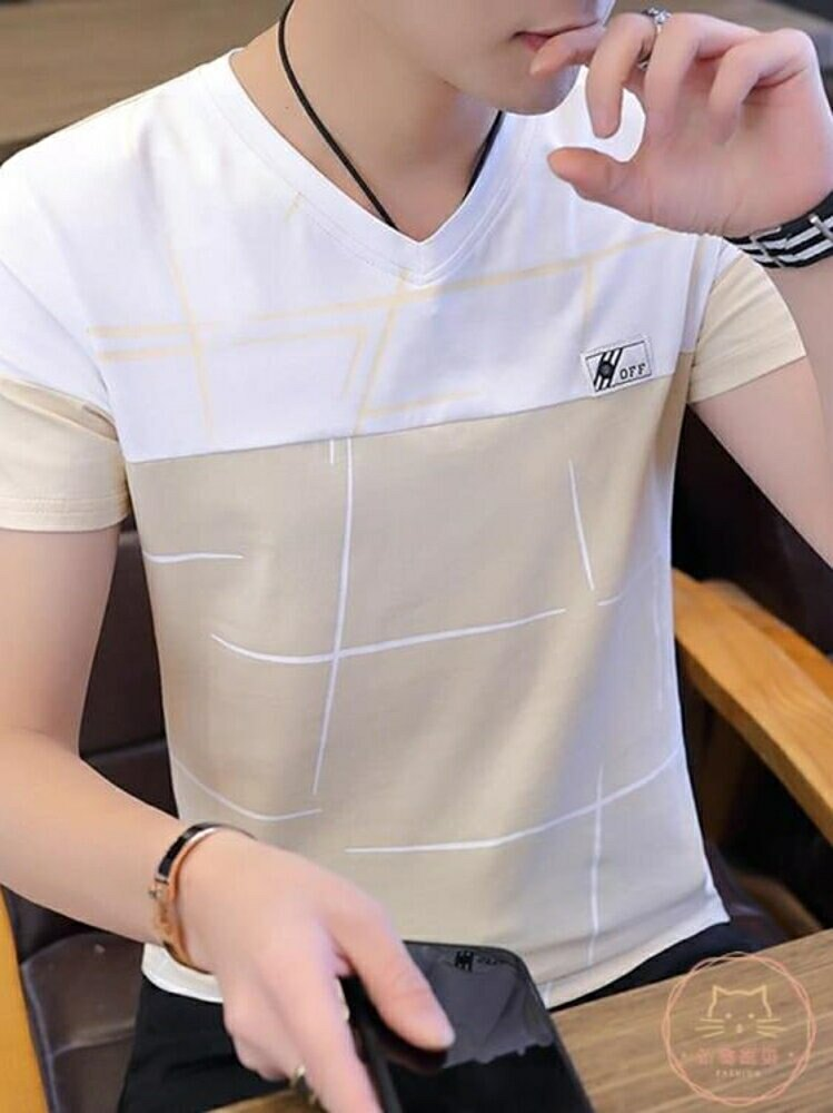 POLO衫 T恤男士短袖2019新款夏季潮流男裝純棉上衣服休閒POLO衫夏體桖【全館82折】