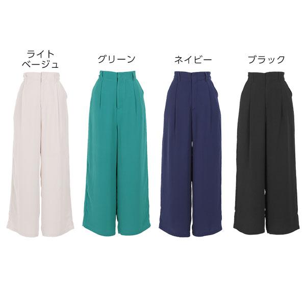 日本Kobe lettuce / 休閒素色寬版高腰長褲 / 日本必買 日本樂天代購 / mobacaba-m2423 (2305)。件件免運 1