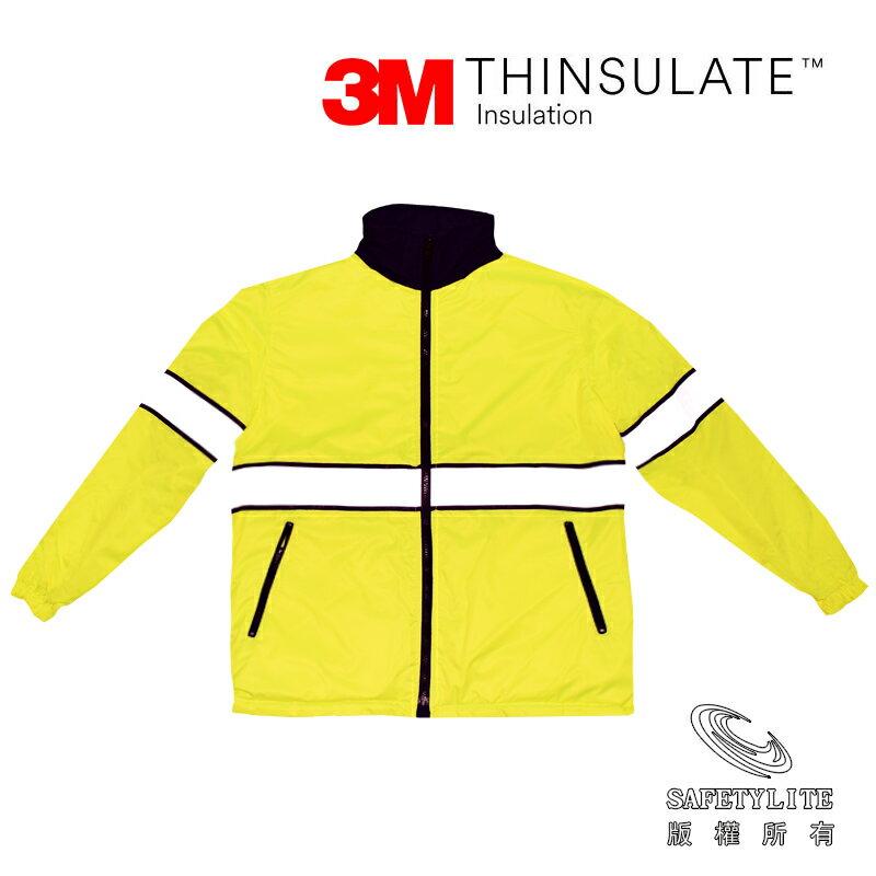【買就送來店禮】《免運》螢黃黑雙層鋪棉保溫防水正反穿機能外套~超保暖3M Thinsulate