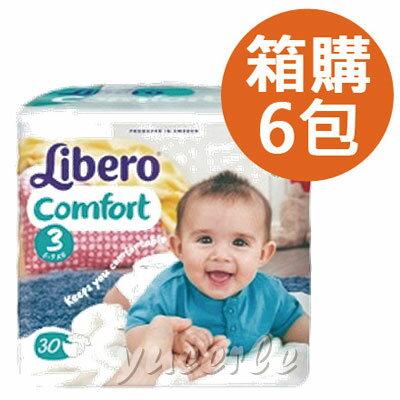 【悅兒樂婦幼用品舘】Libero 麗貝樂 嬰兒紙尿褲3號- M(30片)x6包-歐洲原裝進口