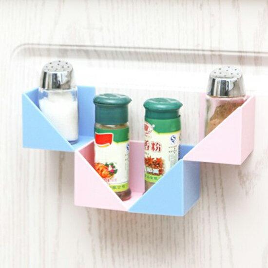 ●MY COLOR●自由組合黏貼置物架(4入) 創意 多功能 廚房 組裝紙巾架 保鮮膜 收納架【N423】