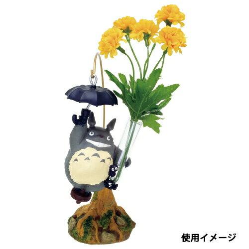 【真愛日本】17041400020 花器一輪插-灰龍貓撐傘 龍貓 TOTORO 豆豆龍  花瓶 擺飾 收藏 日本帶回