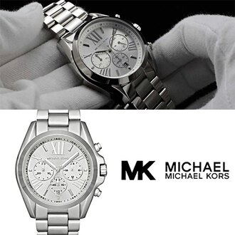 Outlet 正品代購 Michael Kors MK 耀眼光芒羅馬數字三眼 計時腕錶/手錶 MK5535