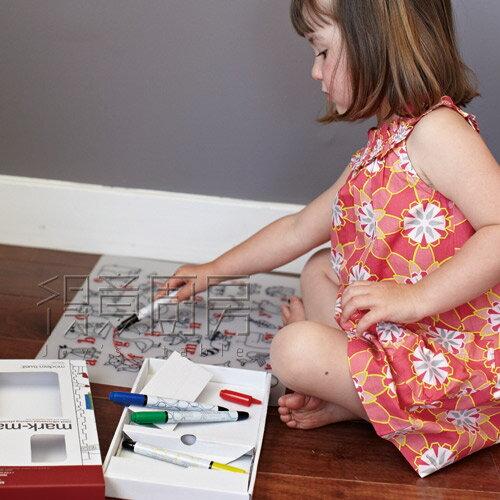 Modern Twist 兒童矽膠餐墊套組-城市系列(含4色彩筆)