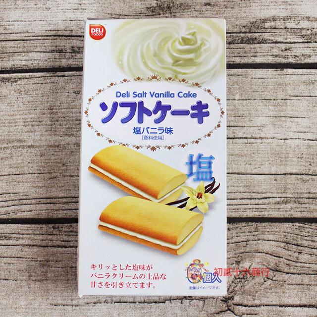 【0216零食會社】DELI(鹽香草/香草/草莓/抹茶)風味夾心蛋糕108g