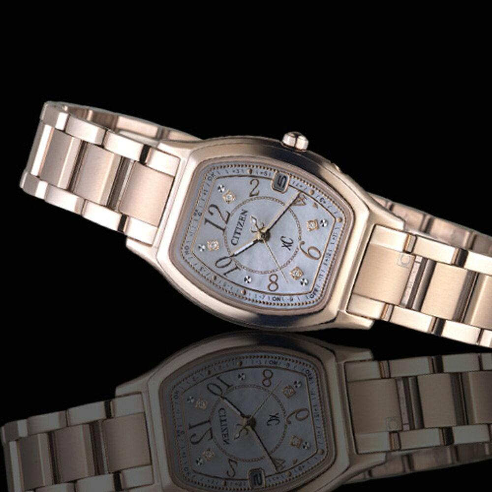 CITIZEN 星辰 xC系列綻放時刻鈦金屬限量腕錶 ES9356-55W