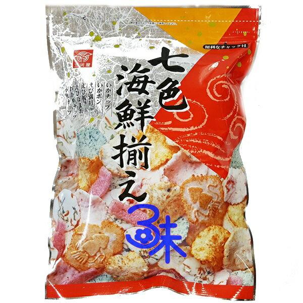 (日本) 三河屋綜合海鮮仙貝(7色海鮮米果 ) 1包145公克 特價143元 【4902733142445】