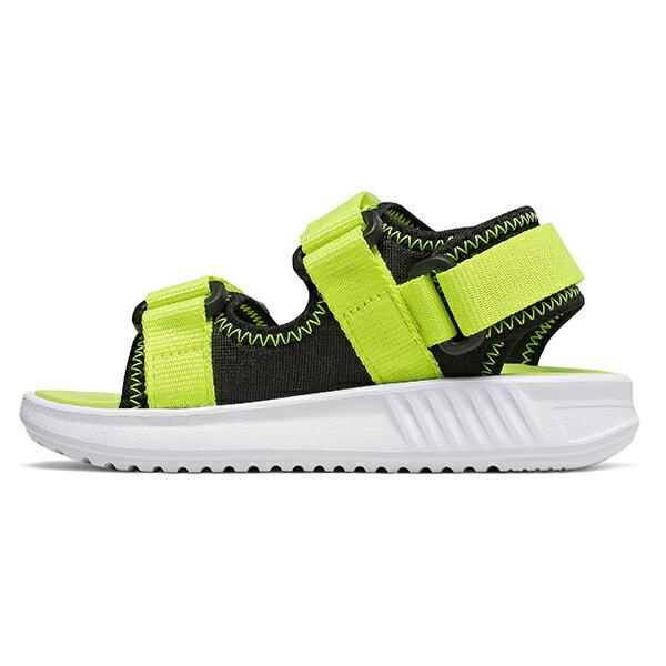 Shoestw【IH750BL】NEW BALANCE NB750 涼鞋 涼拖鞋 運動涼鞋 童鞋 小童鞋 黏帶 螢光黃黑 1