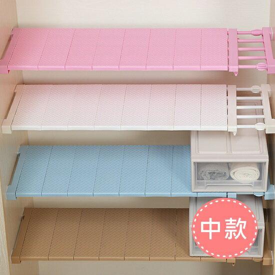 Mycolor:♚MYCOLOR♚藤編款伸縮分層隔板(中)櫥櫃支架免釘置物夾層收納免釘宿舍鞋櫃【A31】