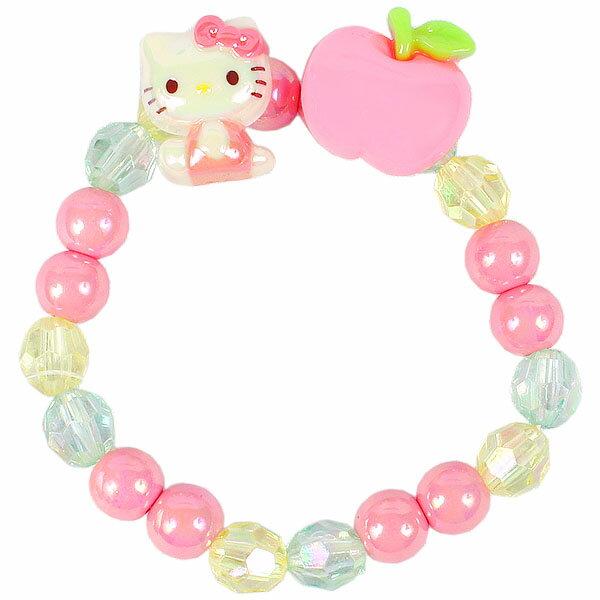 X射線【C636398】Hello Kitty 兒童手環-蘋果,三麗鷗/手環/手鍊/手飾/飾品