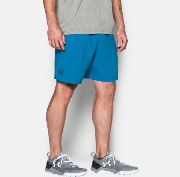《UA出清6折》Shoestw【1271943-787】UNDERARMOURUA服飾短褲運動褲訓練褲8吋水藍男生
