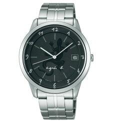agnes b VJ52-00A0D(BP9001J1))經典蜥蜴圖文時尚腕錶/黑面40mm