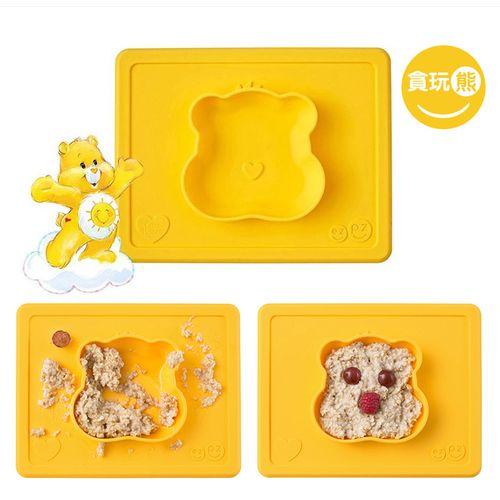 美國EZPZ 矽膠幼兒餐具 防滑餐碗-CareBears願望熊(黃色)★衛立兒生活館★