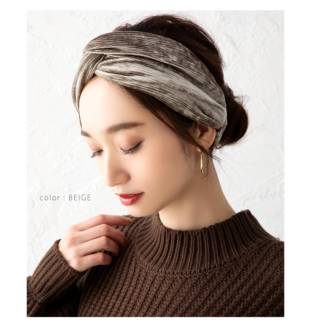 日本Cream Dot  /  秋冬質感絨面髮帶  /  a04239 /  日本必買 日本樂天代購  /  件件含運 4