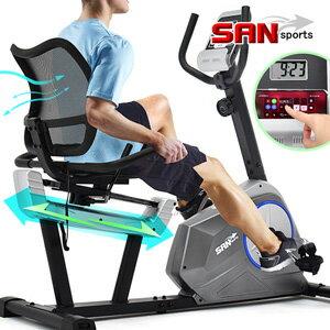 【SAN SPORTS】磁控躺臥式健身車(距離調整+透氣靠背)臥式車美腿機.室內腳踏車.動感單車自行車.腳踏訓練器.老人康復運動健身器材.推薦哪裡買專賣店ptt  C198-601R 0