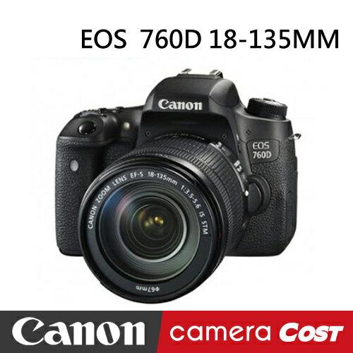 【32G超值白金清潔組】Canon EOS 760D BODY 單機 翻轉螢幕 - 限時優惠好康折扣