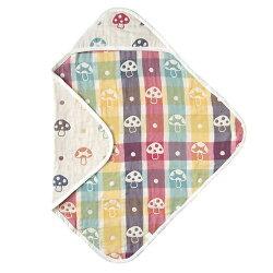 日本 Hoppetta 六層紗蘑菇包巾(方型)★衛立兒生活館★