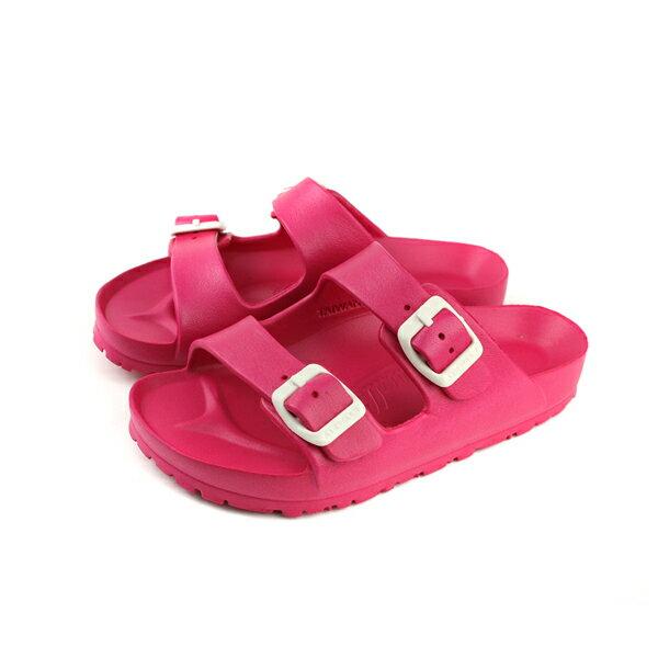Airwalk拖鞋勃肯鞋防水童鞋桃紅色中童137A014223no009