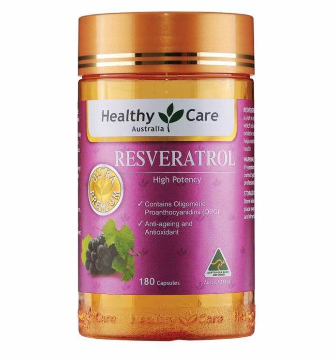 澳洲Healthy Care 白藜蘆醇精華膠囊 180粒