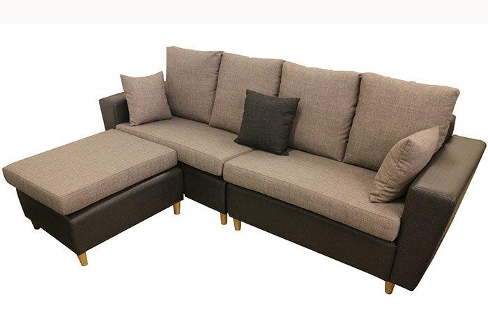 【尚品家具】☆特別優惠☆ K-797-05 奧格斯堡 L型沙發/客廳沙發/會客沙發/ L-Shaped Sofa